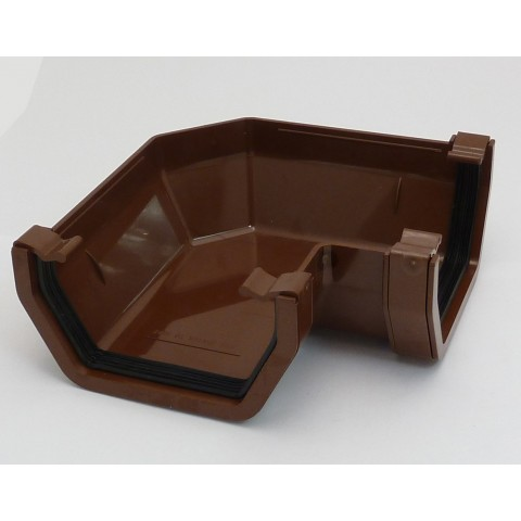 117mm Square Gutter 90° Angle Brown