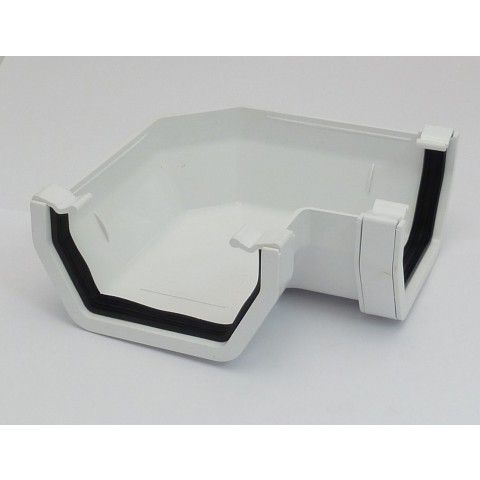 117mm Square Gutter 90° Angle White