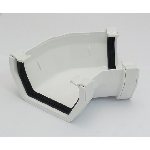 117mm Square Gutter 135° Angle White