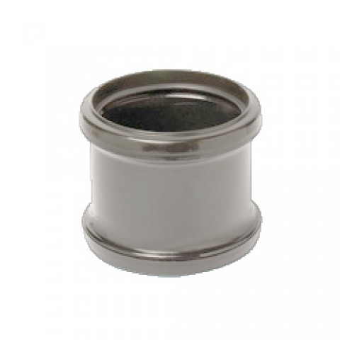 110mm Soil Pipe Double Socket Pipe Connector Grey
