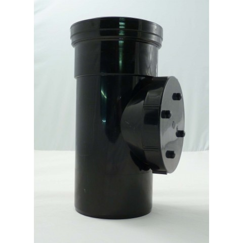 110mm Single Socket Access Pipe Black