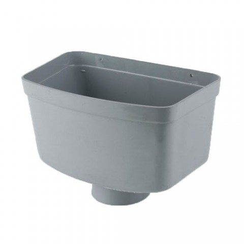 Industrial Gutter Hopper Head Grey