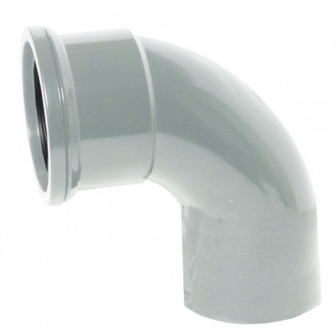 110mm Soil Pipe 90 Degree Single Socket Bend Grey