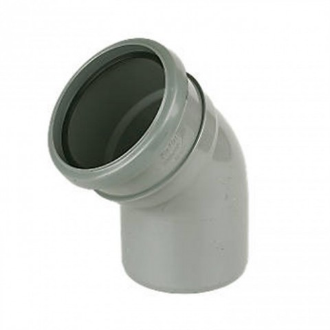 110mm Soil Pipe 135 Single Socket Bend Grey