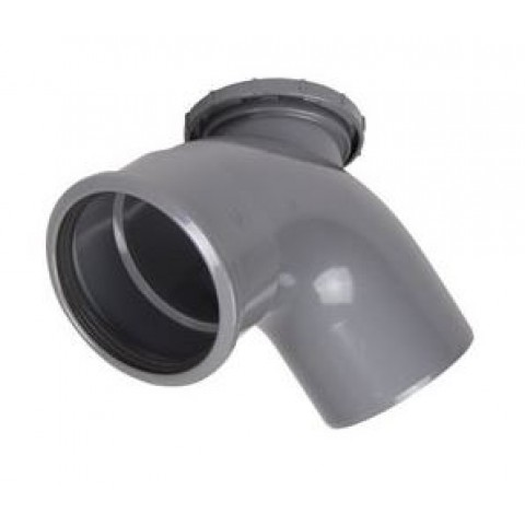 110mm Soil Pipe 90 Degree Access Bend Grey