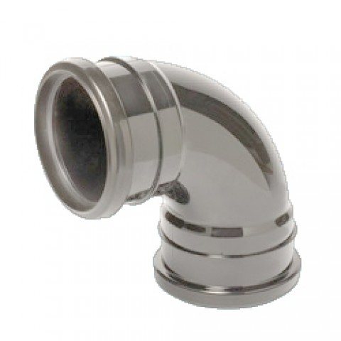 110mm Soil Pipe 90 Double Socket Bend Grey