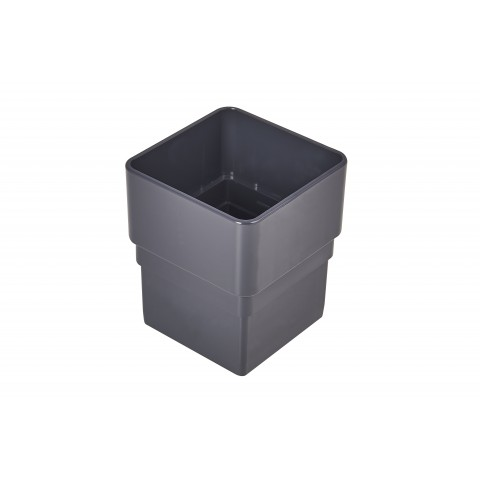 Downpipe Connector 65mm Square (Anthracite Grey/Dark Grey)