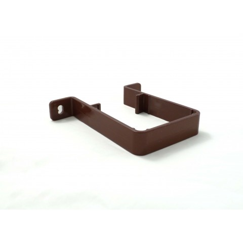 65mm Square Downpipe Pipe Clip Brown