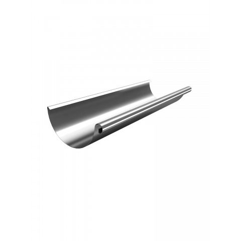 3m x 125mm Steel Gutter Galvanised