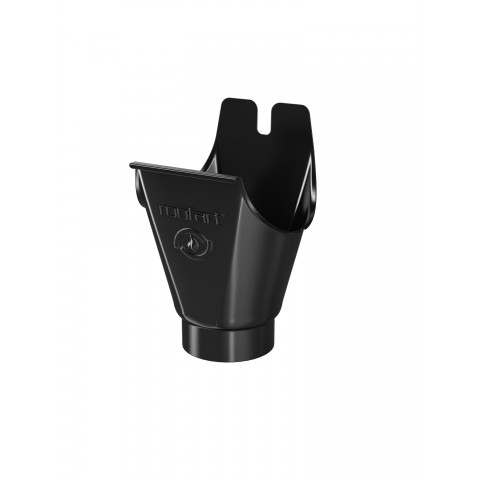 Running Outlet for 125mm Steel Gutter Black