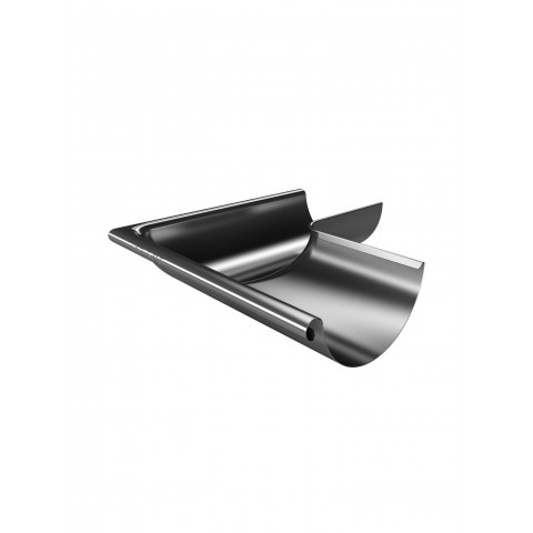 150mm Steel Half Round Gutter External Corner 135 Galvanised
