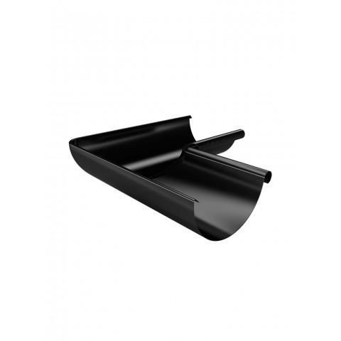 150mm Steel Half Round Gutter Internal Corner 135 Black