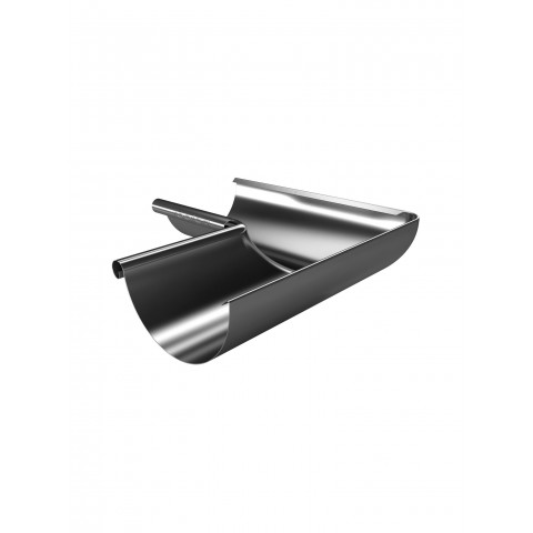 150mm Steel Half Round Gutter Internal Corner 90 Galvanised
