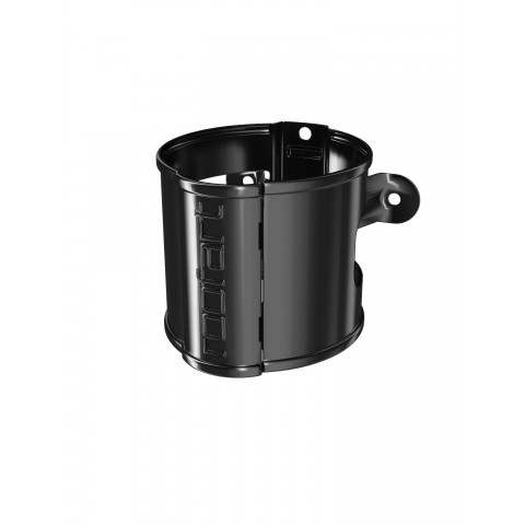 100mm Steel Round Pipe Bracket Black