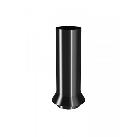 100mm Steel Round Gully Connector Black