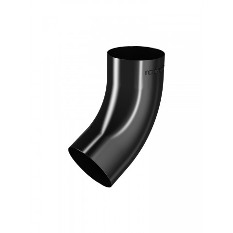 Offset Bend for 87mm Steel Downpipe Black