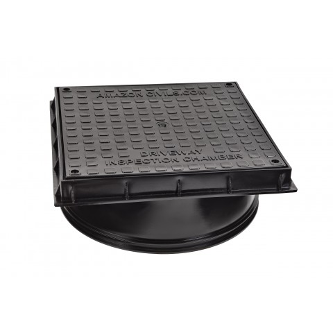 Square Lid & Frame for 320mm Diameter Manhole Base