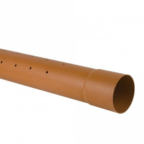 6m Plain End 110mm Perforated Underground Drainage Pipe