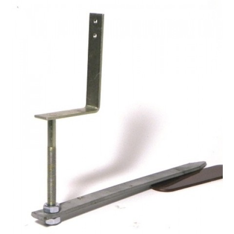 Galvanised 112mm Rise & Fall Bracket 310mm Drive in Spike Universal